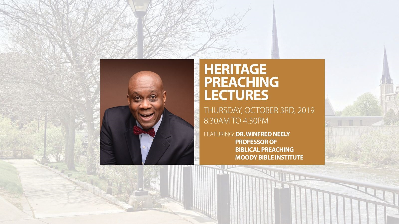 Heritage Preaching Lectures 2019 Story