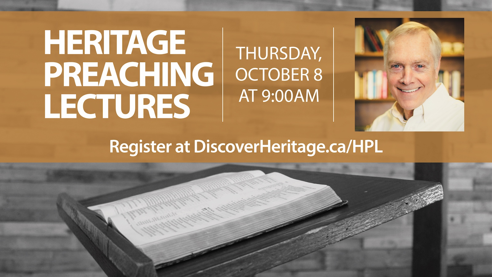 Heritage Preaching Lectures 2020 Welcomes Ray Ortlund